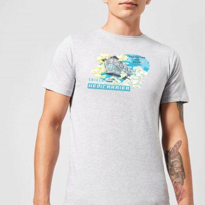 Marvel S.H.I.E.L.D. Helicarrier Mobile HQ Men's T-Shirt - Grey - XS - Gris chez Casa Décoration