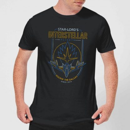 Marvel Guardians Of The Galaxy Interstellar Flights Men's T-Shirt - Black - XS chez Casa Décoration