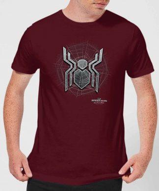 Spider-Man Far From Home Web Icon Men's T-Shirt - Burgundy - XS chez Casa Décoration