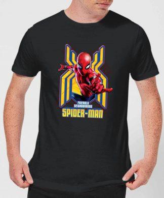Spider Man Far From Home Friendly Neighborhood Spider-Man Men's T-Shirt - Black - XS - Noir chez Casa Décoration