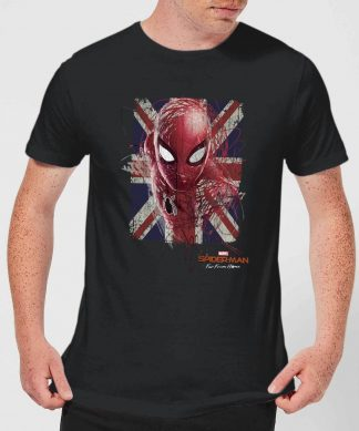 Spider-Man Far From Home British Flag Men's T-Shirt - Black - XS chez Casa Décoration