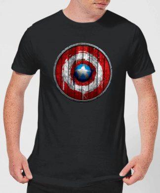 Marvel Captain America Wooden Shield Men's T-Shirt - Black - XS - Noir chez Casa Décoration