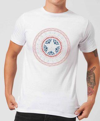 Marvel Captain America Oriental Shield Men's T-Shirt - White - XS chez Casa Décoration