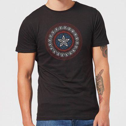 Marvel Captain America Oriental Shield Men's T-Shirt - Black - XS - Noir chez Casa Décoration