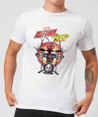 Marvel Drummer Ant Men's T-Shirt - White - XS - Blanc chez Casa Décoration
