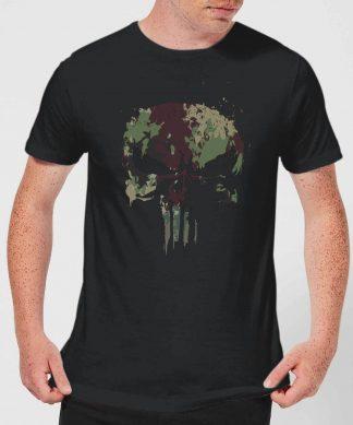 Marvel Camo Skull Men's T-Shirt - Black - XS - Noir chez Casa Décoration