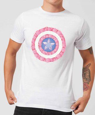 Marvel Captain America Flower Shield Men's T-Shirt - White - XS chez Casa Décoration