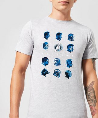 T-shirt Avengers: Endgame Heads - Homme - Gris - XS - Gris chez Casa Décoration