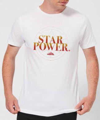 Captain Marvel Star Power Men's T-Shirt - White - XS - Blanc chez Casa Décoration