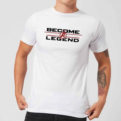 T-shirt Avengers Endgame Become A Legend - Homme - Blanc - XS chez Casa Décoration