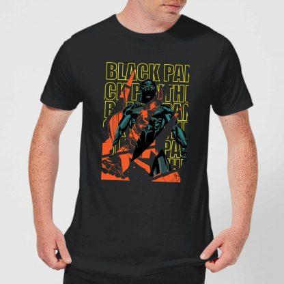 Marvel Avengers Black Panther Collage Men's T-Shirt - Black - XS - Noir chez Casa Décoration