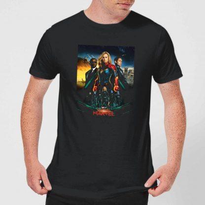 Captain Marvel Movie Starforce Poster Men's T-Shirt - Black - XS - Noir chez Casa Décoration