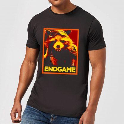 Avengers Endgame Rocket Poster Men's T-Shirt - Black - XS - Noir chez Casa Décoration