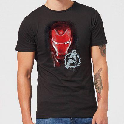 T-shirt Avengers Endgame Iron Man Brushed - Homme - Noir - XS - Noir chez Casa Décoration