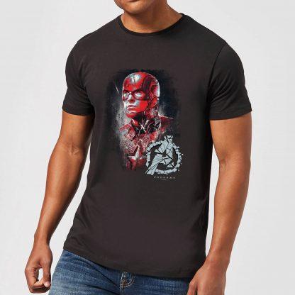 T-shirt Avengers Endgame Captain America Brushed - Homme - Noir - XS chez Casa Décoration