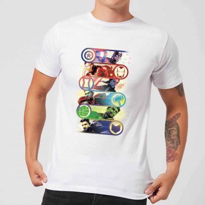 T-shirt Avengers Endgame Original Heroes - Homme - Blanc - XS - Blanc chez Casa Décoration