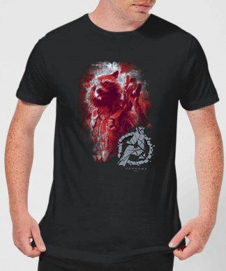 T-shirt Avengers Endgame Rocket Brushed - Homme - Noir - XS chez Casa Décoration