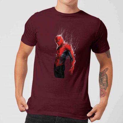 Marvel Spider-man Web Wrap Men's T-Shirt - Burgundy - XS - Burgundy chez Casa Décoration