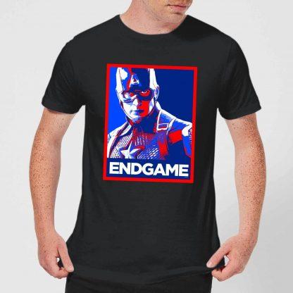 Avengers Endgame Captain America Poster Men's T-Shirt - Black - XS chez Casa Décoration
