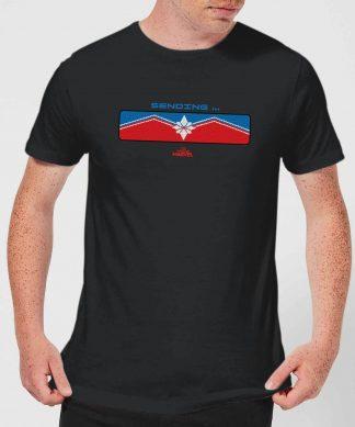 Captain Marvel Sending Men's T-Shirt - Black - XS - Noir chez Casa Décoration