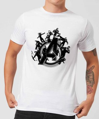 T-shirt Avengers Endgame Hero Circle - Homme - Blanc - XS - Blanc chez Casa Décoration