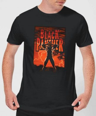 Marvel Universe Wakanda Lightning Men's T-Shirt - Black - XS - Noir chez Casa Décoration