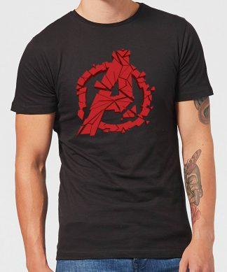 Avengers Endgame Shattered Logo Men's T-Shirt - Black - XS chez Casa Décoration