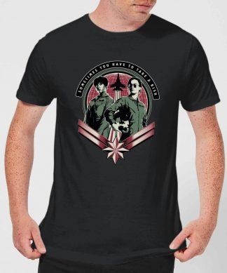 Captain Marvel Take A Risk Men's T-Shirt - Black - XS - Noir chez Casa Décoration