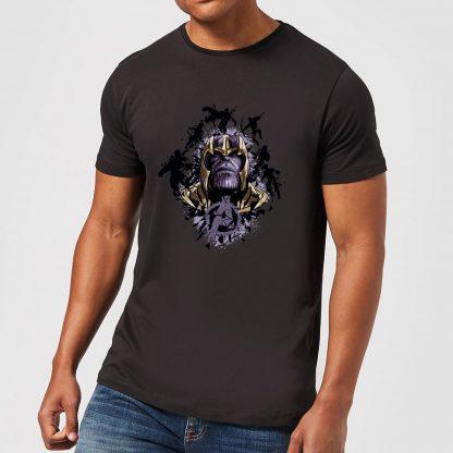 T-shirt Avengers Endgame Warlord Thanos - Homme - Noir - XS chez Casa Décoration