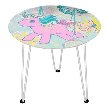 Table en bois Decorsome - Mon Petit Poney - Blanc chez Casa Décoration