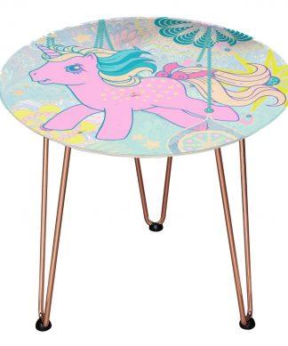 Table en bois Decorsome - Mon Petit Poney - Rose gold chez Casa Décoration