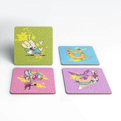 Lot de dessous de verre Nickelodeon Coaster Set chez Casa Décoration