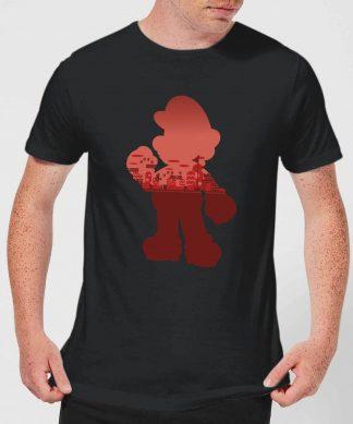 Nintendo Super Mario Silhouette Men's T-Shirt - Black - XS chez Casa Décoration