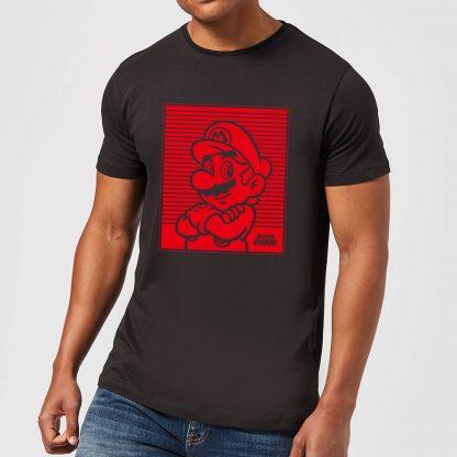 Nintendo Super Mario Mario Retro Line Art Men's T-Shirt - Black - XS - Noir chez Casa Décoration
