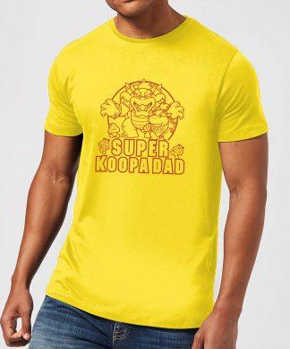 Nintendo Super Mario Super Koopa Dad Men's T-Shirt - Yellow - XS chez Casa Décoration