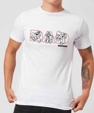 Nintendo Super Mario Fatherhood Men's T-Shirt - White - XS - Blanc chez Casa Décoration