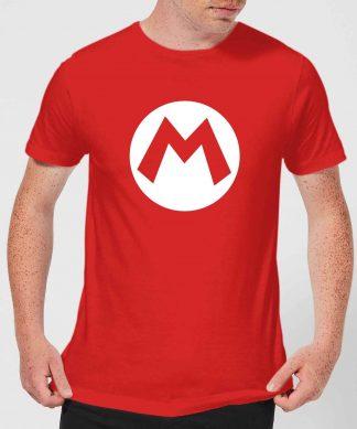 Nintendo Super Mario Mario Logo Men's T-Shirt - Red - XS chez Casa Décoration