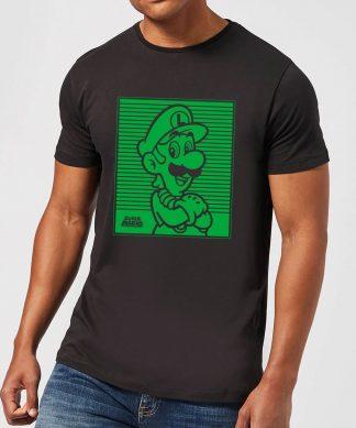 Nintendo Super Mario Luigi Retro Line Art Men's T-Shirt - Black - XS - Noir chez Casa Décoration