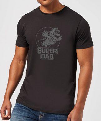 Nintendo Super Mario Super Dad Men's T-Shirt - Black - XS chez Casa Décoration