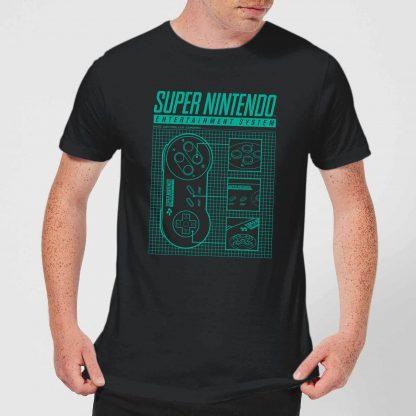 T-Shirt Homme Super Nintendo Entertainment System - Noir - XS chez Casa Décoration