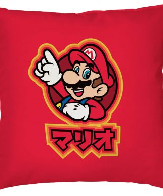 Housse de coussin Kanji Mario Nintendo - Smooth Linen chez Casa Décoration