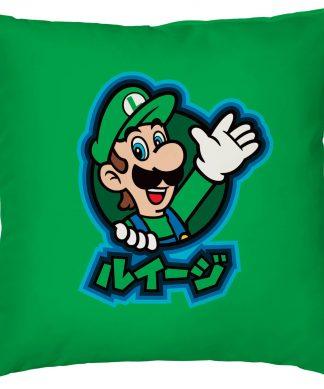 Housse de coussin Kanji Luigi Nintendo - Smooth Linen chez Casa Décoration