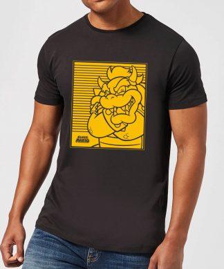 Nintendo Super Mario Bowser Retro Line Art Men's T-Shirt - Black - XS - Noir chez Casa Décoration