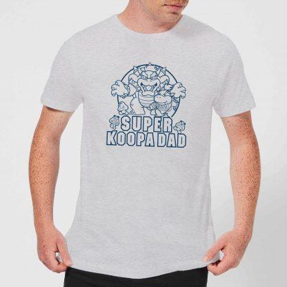 Nintendo Super Mario Super Koopa Dad Men's T-Shirt - Grey - XS - Gris chez Casa Décoration