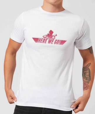 T-Shirt Homme Mario Kart Here We Go Nintendo - Chocolat - XS - Blanc chez Casa Décoration