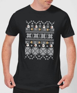 Nintendo Super Mario Retro Boo Men's Christmas T-Shirt - Black - XS chez Casa Décoration