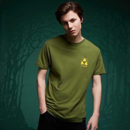 T-Shirt Legend Of Zelda Brodé Triforce - Vert - XS chez Casa Décoration