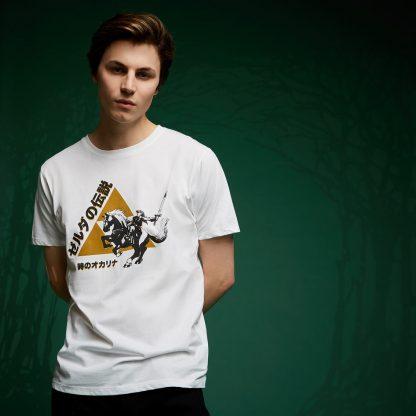 T-Shirt Legend Of Zelda Triforce Link - Blanc - XS chez Casa Décoration