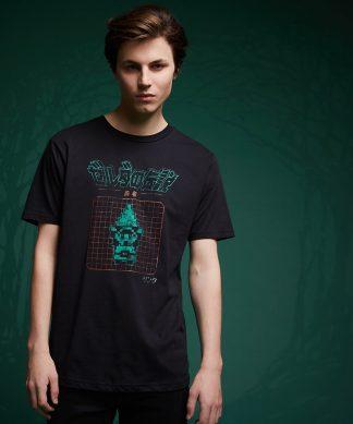 T-Shirt Legend Of Zelda Retro Arcade Hero - Noir - XS - Noir chez Casa Décoration