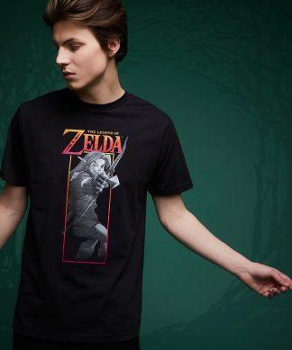 T-Shirt Legend Of Zelda Link Arc - Noir - XS - Noir chez Casa Décoration